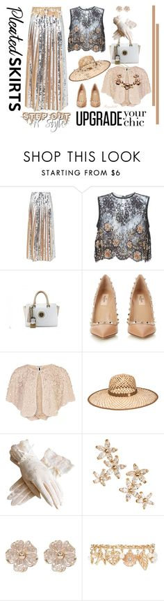 """""""Pleated Skirt"""" by ragnh-mjos ❤ liked on Polyvore featuring Emilio Pucci, Alessandra Rich, Valentino, Halston, Henri Bendel, Bonheur, River Island, Forever 21, INC International Concepts and contest"""