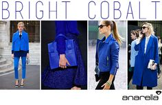 A mais vibrante das 10 cores que serão tenência nesse inverno, o Bright Cobalt promete ser o favorito das fashinistas e irá compor os looks da temporada!