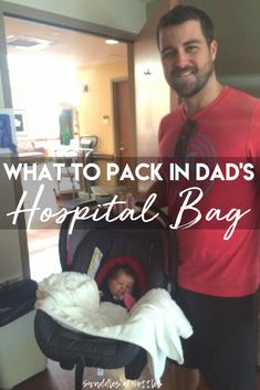 What to pack in the dad-to-be's hospital bag! Tips from a dad who has packed more than one bag for labor and delivery! Checklist includes what to pack for mom and baby as well to make sure everyone is prepared! Pregnancy Information, How To Get Sleep, Baby Arrival, Pregnant Mom, Hospital Bag, First Time Moms, What To Pack, Baby Hacks, Baby Tips