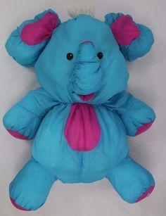 "Fisher Price Puffalump Blue Elephant 18"" 1987 Vintage #FisherPrice"