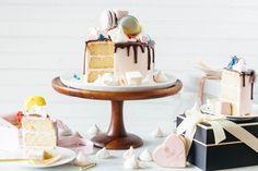 vanilla bean cake macarons marshmallows meringues