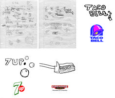 -Mason Fowlkes -Digital Art Studio FA2016 SCC -Project 1 Tattoo -Fast food restaurant logos as tattoos.