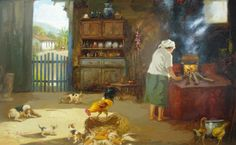 Country Farm, Country Life, Brazilian People, Amazing Paintings, Art Education, Colonial, Book Art, Decoupage, Camping