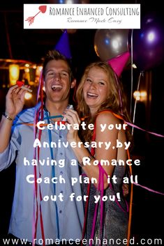 Do you ever dream about having a perfect romantic anniversary plan? -Olny to be let down by the lack of romantic plans from your spouse? You are not alone!  I am a Romance Coach at Romance Enhanced Consulting and I can help you to have that dream anniversary.  I specialize in bringing more romance into marriages, even if you are not the romantic type.  I create a romantic plan, that is catered to you and your spouse and then you get the benefits of having a romantic anniversary without the…
