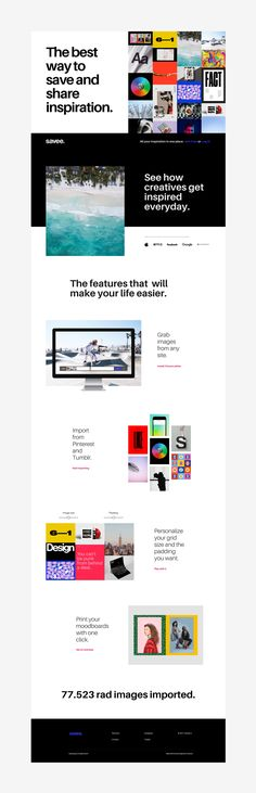 Web design: Savee. All your inspiration in one place