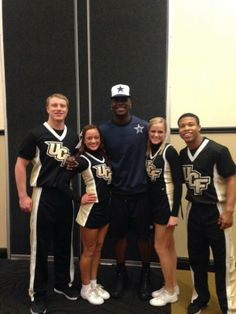"""It's always great to have our alumni home! Thanks for your loyalty! Jamar Newsome, current wide receiver for the Dallas Cowboys, came back for a visit! Ucf Football, Ucf Knights, Wide Receiver, Dallas Cowboys, Loyalty, Cheerleading, Comebacks, Cheer, Competitive Cheerleading"