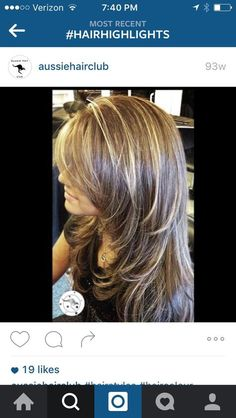 Brunette Balayage for Thick Hair - 50 Cute Long Layered Haircuts with Bangs 2019 - The Trending Hairstyle Long Layered Hair, Long Hair Cuts, Haircut Trends 2017, Medium Hair Styles, Short Hair Styles, Hair Color And Cut, Hair Affair, Hair Highlights, Carmel Highlights