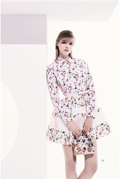 Forecast: Quilting & quilting effects. Trending: country prints - Dress by Dior