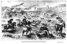 Grabado de George Musters At home with the Patagonians, 1870. Convivió con el cacique Casimiro