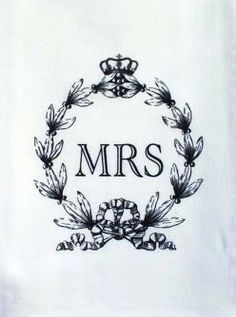 Dish Towel MRS.