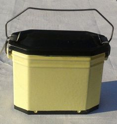 French Vintage Enamel Lunch Box Primrose by FrenchMarketFinds, €29.00