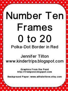 NUMBER TEN FRAMES 0 TO 20 - CHEVRON PATTERN IN PURPLE - TeachersPayTeachers.com