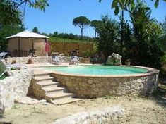 Above+Ground+Pool+Landscaping | Swimming Pools - Properties in Central Italy || La Porta Verde ...