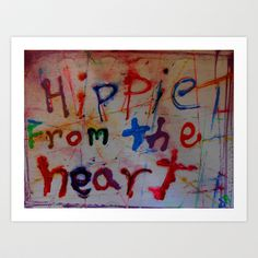 hippie from the heart Art Print by songs for seba - $12.48