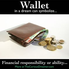 Dream dictionary meaning for the dream symbol: wallet. Lucid Dreaming, Dreaming Of You, Facts About Dreams, Dream Dictionary, Dream Symbols, Dream Meanings, Im A Dreamer, Dream Interpretation, I Have A Dream