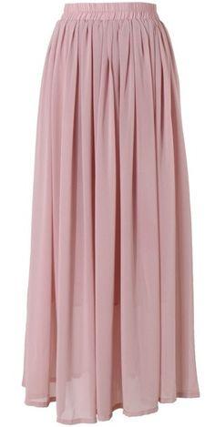 Conservative Modest full length pink dusty rose maxi skirt   Mode-sty tznius fashion style hijab muslim islamic mormon lds jewish christian no slit