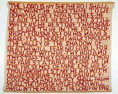 Psalm 23 Quilt, Lena Moore