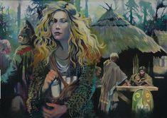 """Une peinture d' Eponine, l'espionne gauloise. Bientôt dans le coffret à venir de """"La Guerre des Gaules"""" : ©Vincent Pompetti"""