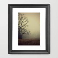 A Gathering of Fog Framed Art Print by RDelean - $36.00