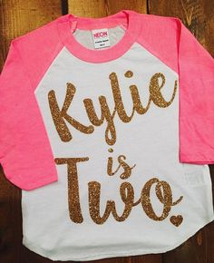 2 Year Old Birthday Shirt Girl Five By MillysAndDillys 2yr