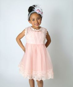 Loving this Strawberry Danish Pastry Lace Ruffle Dress - Toddler & Girls on #zulily! #zulilyfinds