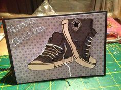 Красиво нарисовать, открытка кроссовок