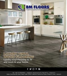 Vinyl Wood Flooring, Luxury Vinyl Flooring, Wood Vinyl, California Pizza, Website, Fit, Kitchen, Room, Furniture