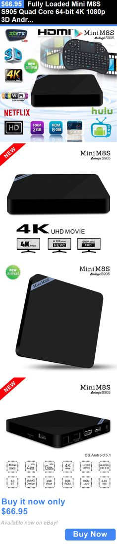 Home Audio: Fully Loaded Mini M8s S905 Quad Core 64-Bit 4K 1080P 3D Android Tv Box Kodi 16.0 BUY IT NOW ONLY: $66.95