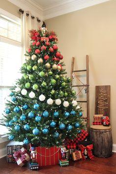 A Colorblock Nutcracker Christmas Decor