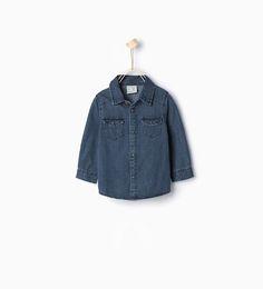 ZARA - KIDS - Denim shirt with pockets