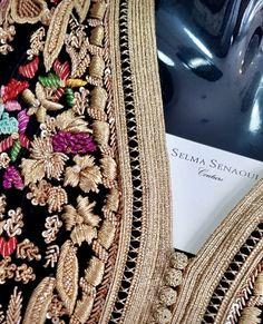 سليمة السناوي Morrocan Dress, Moroccan Caftan, Kaftan Style, Caftan Dress, Zardozi Embroidery, Embroidery Dress, Pakistani Bridal Dresses, Pakistani Dress Design, Bead Embroidery Jewelry