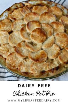 This dairy free Chicken Pot Pie is the ultimate comfort food. It's creamy filling packed with chicken, carrots, celery, and peas leaves you full and satisfied. With a flaky dairy free crust, this dish makes the perfect comforting dinner. Chicken Recipes Dairy Free, Yummy Chicken Recipes, Yum Yum Chicken, Dinner Ideas, Dinner Recipes, Creamy Tomato Sauce, Flaky Pastry, Create A Recipe, Pastry Blender