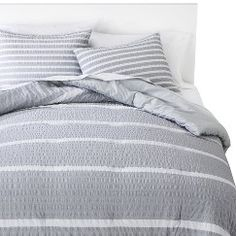 Room Essentials™ Textured Stripe Comforter Set - Gray (Full/Queen). Get substantial discounts up to 50% Off at Target with Coupons and Promo Codes.