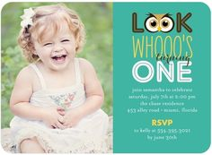 Birthday Party Invitations Look Who's One - Front : Bay