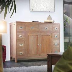 Sublime miroir en bois de teck flott le miroir river for Fenetre 180x90