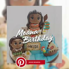 Disney Moana birthday party cake, cupcake and cookie Ideas Cupcakes Decoration Awesome, Fun Cupcakes, Birthday Cupcakes, Moana Birthday Party, Birthday Fun, Birthday Party Themes, Fall Cake Recipes, Homemade Birthday, Birthday Woman