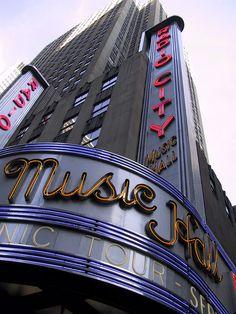 Radio City Music Hall in Manhattan's Midtown West, New York