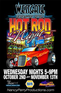 Hot Rod Night Wednesday nights Oct 2 through Nov Vintage Signs, Vintage Cars, T Shirt Design Vector, Truck Festival, Racing Car Design, Raiders Fans, Show Trucks, Car Posters, Car Drawings