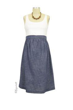 Maternal America Empire Seersucker Maternity Dress $99