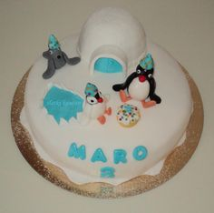 Pingu birthday cake for my boy