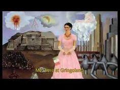 """Frida Kahlo, à travers le masque - épisode 16/26 """"Autoportrait à la frontière du Mexique et des États-Unis"""" Pendant son séjour aux Etats-Unis, Frida Kahlo pense avec nostalgie à son pays natal, le Mexique."""