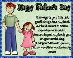 A sweet card from daughter to dad. Free online I'll Always Be Your Little Girl ecards on Father's Day Wishes For You, Day Wishes, Fathers Day Cards, Happy Fathers Day, Special Person, Special Day, Cute Letters, Big Hugs, Dad Birthday