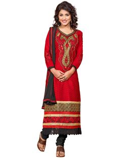 http://www.desilook.in/red-semi-cotton-multi-embroidery-with-fancy-neck-and-border-straight-cut-salwar-suit.html…