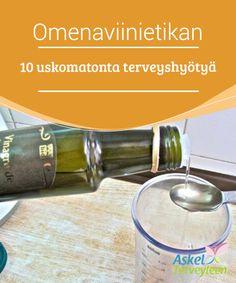 Omenaviinietikan 10 uskomatonta terveyshyötyä  #Omenaviinietikka on täysin #luonnollinen tuote, joka on yleisessä käytössä ympäri maailmaa sekä keittiössä ruuanlaitossa, että #lääkinnällisessä käytössä.  #Luontaishoidot