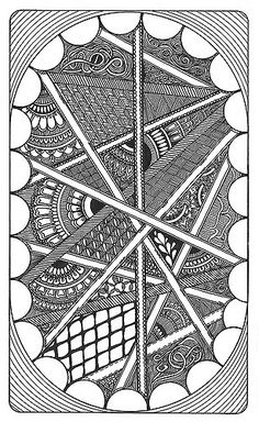Zentangle 22 | 11.10.08 Please view larger to see the detail… | Flickr