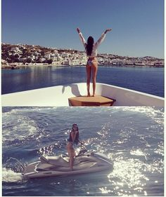 kendall jenner kardashian vacation boat water sports