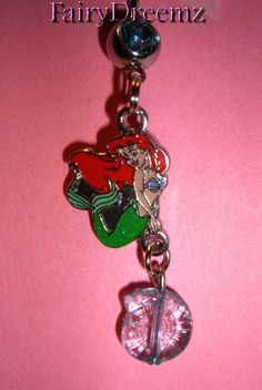 My love for Ariel is a bit crazy... I think this is cute! Ariel Little Mermaid Dangle Shell Princess by FairyDreemz, $18.00