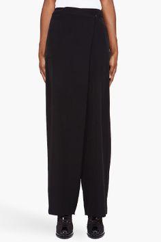 Maison Martin Margiela Black Foldover Trousers for women   SSENSE