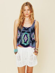 FP Beach Crochet Board Short at Free People Clothing Boutique