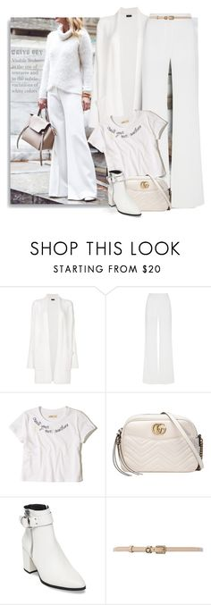 """White out - 1712"" by breathing-style ❤ liked on Polyvore featuring Joseph, Alexis Mabille, Hollister Co., Gucci, Steve Madden and Therapy"